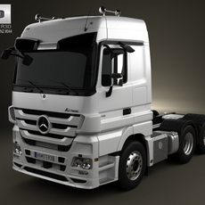 Mercedes-Benz Actros Tractor 3-axis 2011 3D Model