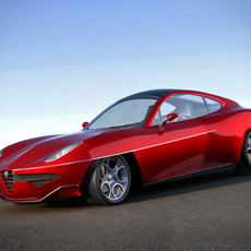 Alfa Romeo Disco Volante 2012 3D Model