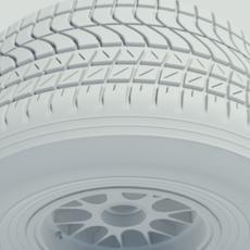 Pirelli wet tyre 3D Model