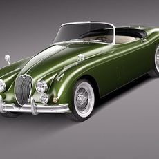 Jaguar XK150 roadster 1957-1961 3D Model
