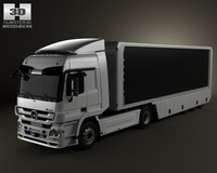 Mercedes-Benz Actros Tractor Trailer 2-axis 2011 3D Model