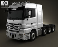 Mercedes-Benz Actros Tractor 4-axis 3D Model