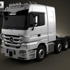 Mercedes-Benz Actros Tractor 4-axis 3D Model