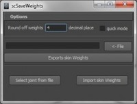 scSaveWeights for Maya 0.4.6 (maya plugin)