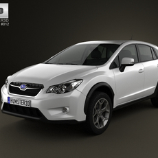 Subaru XV with 2012 with HQ Interior 3D Model