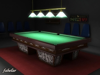 Billiard room 3D Model