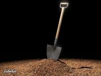 Shovel & soil 3D Model