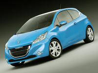 Peugeot 208 3 Door 3D Model