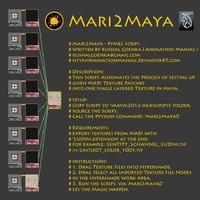Mari2Maya 1.0.1 for Maya (maya script)
