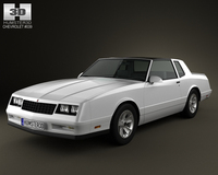 Chevrolet Monte Carlo SS 1986 3D Model
