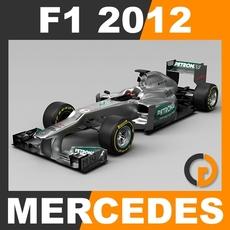 F1 2012 Mercedes W03 - Mercedes AMG Petronas F1 Team 3D Model