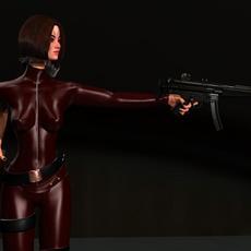 Weapon Girl 3D Model