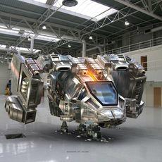 Spaceship Unit 3D Model