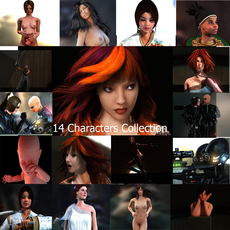 14 Characters Collection 3D Model