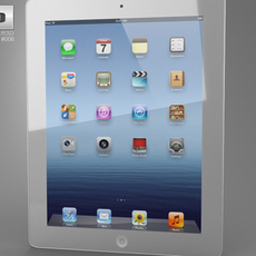 Apple The new iPad WiFi 4G (iPad 3) 3D Model