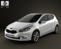 Kia Ceed hatchback 5-door 2013 3D Model