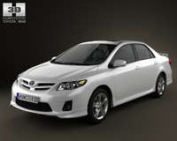 Toyota Corolla 2012 3D Model