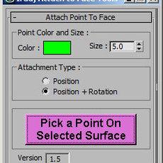 Iradj_Attach_to_face for 3dsmax 1.5.0 (3dsmax script)