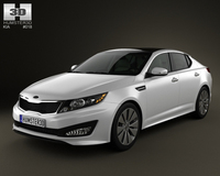 Kia Optima (K5) 2011 with HQ Interior 3D Model