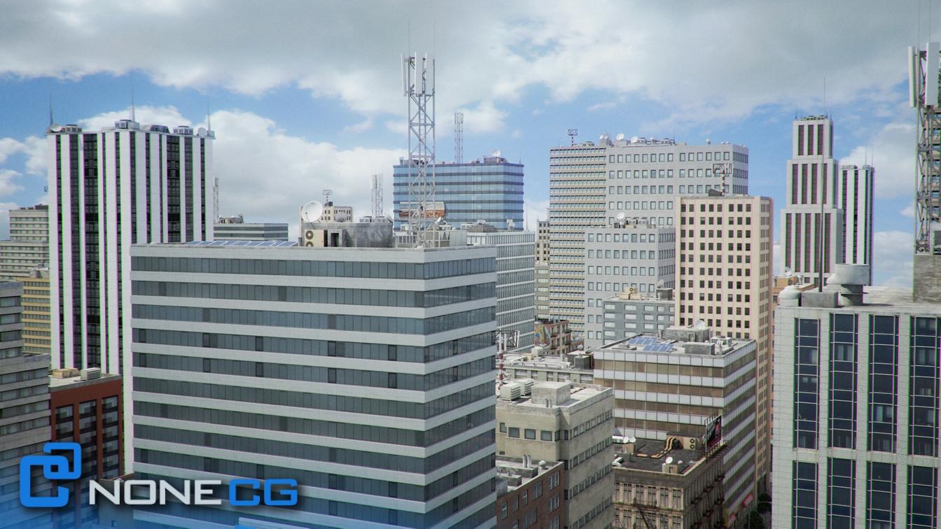 NYC - 4 Blocks - 37 Buildings 3D Model