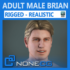 Adult Male Brian Nude Rigged 3D Model