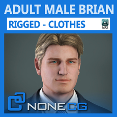 Adult Male Brian Rigged 3D Model