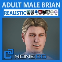Adult Male Brian 3D Model
