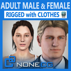 Pack - Adult Male and Female Rigged 3D Model