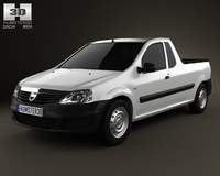 Dacia Logan Pickup 2011 3D Model