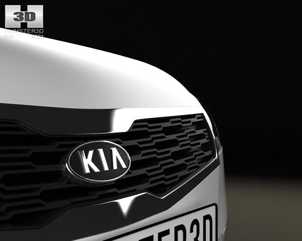 Kia Ceed Hatchback 5 Door 2011 With Hq Interior 3d Model