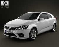 Kia Pro Ceed 2011 with HQ Interior 3D Model