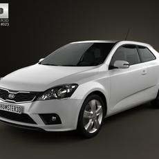 Kia Pro Ceed 2011 with HQ Interior 3D Model