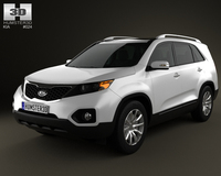 Kia Sorento 2011 with HQ Interior 3D Model