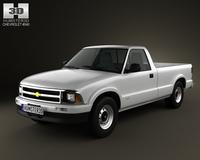 Chevrolet S10 SingleCab LongBed 1994 3D Model