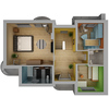04 18 09 153 house interior floor plan free 3d model 4