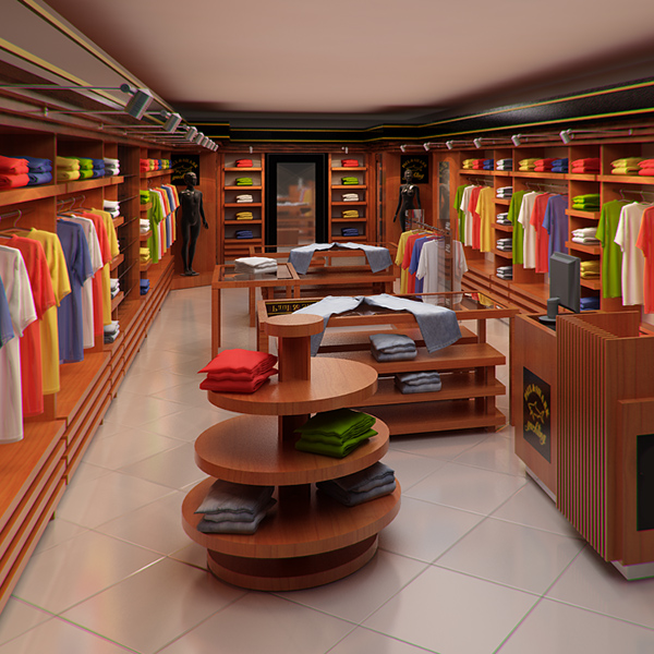 Shop Interior Design: Clothing Store Interior For Men And Women (Render Ready