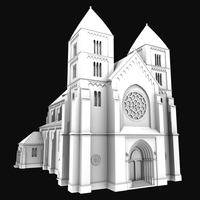 Neo-Romanesque Church 3D Model