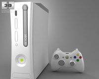 Microsoft X-Box 360 3D Model