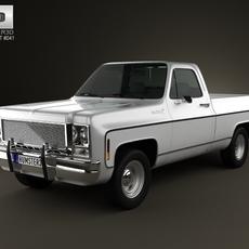 Chevrolet C/K Scottsdale SingleCab StandartBed 1979 3D Model