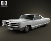 Pontiac Bonneville Hardtop 2-door 1966 3D Model