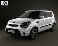Kia Soul 2012 with HQ Interior 3D Model