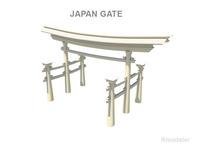 Japan Gate   3D Model