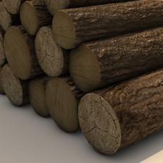 Firewood log pile 3D Model