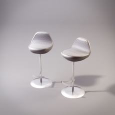 Moon Zuri bar chair 3D Model