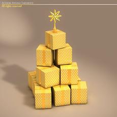 xmas gift box tree 3D Model