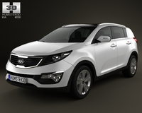 Kia Sportage 2011 with HQ Interior 3D Model