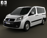 Fiat Scudo Panorama ShortWheelbase 4-door 2011 3D Model