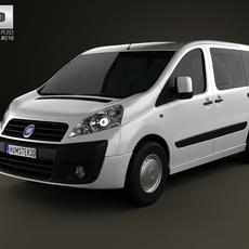 Fiat Scudo Panorama ShortWheelbase 4-door 2011 3D Model