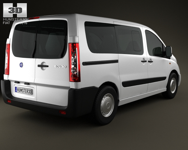 fiat scudo panorama shortwheelbase 4 door 2011 3d model. Black Bedroom Furniture Sets. Home Design Ideas