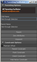 Free MT Parenting Facilitator for Maya 1.0.0 (maya script)